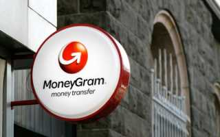 Система денежных переводов MoneyGram через Сбербанк