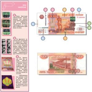 Подлинность 5000 рублей 2010 года