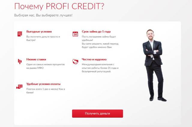 Профи кредит ру личный кабинет официальный сайт